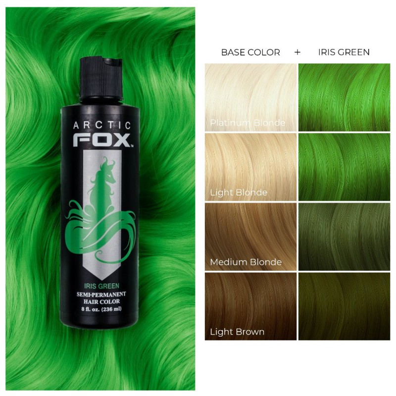 Зеленая краска для волос - Iris Green -  Arctic Fox