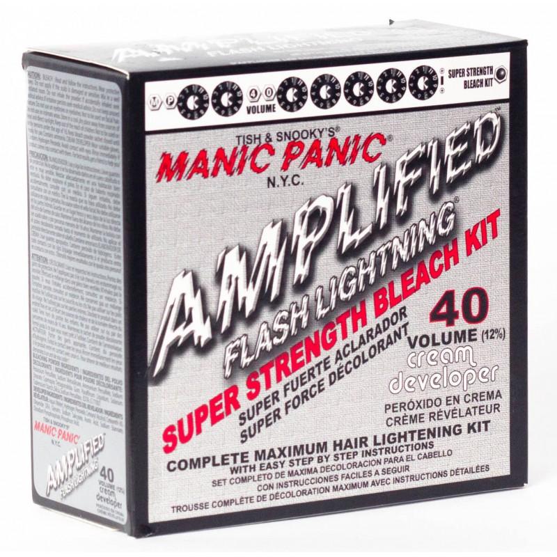 Набор для осветления волос - Flash Lightning® Bleach Kit - 40 Volume Cream Developer - Manic Panic