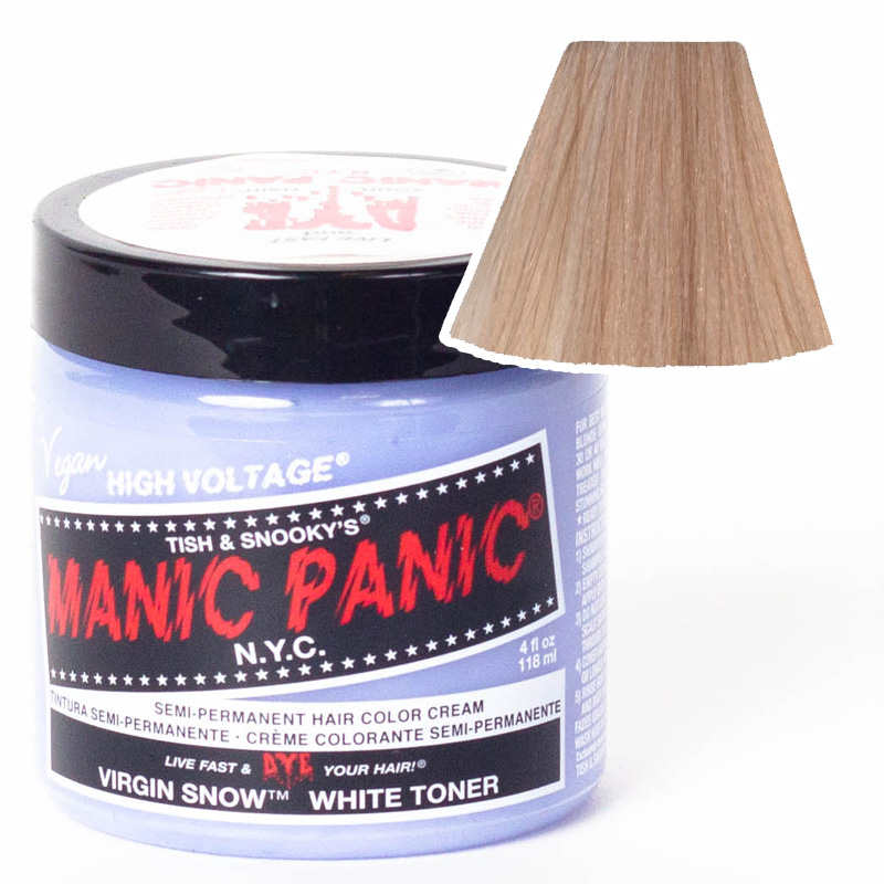 Manic panic pillarbox red amplified hair colour, true red dye