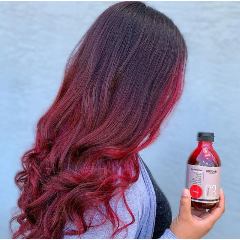 Красная краска для волос Unitones 280ml - Rubine - Большая туба
