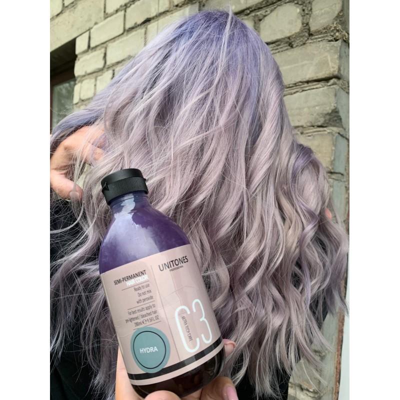 Серая краска для волос Unitones 280ml - Hydra - Большая туба