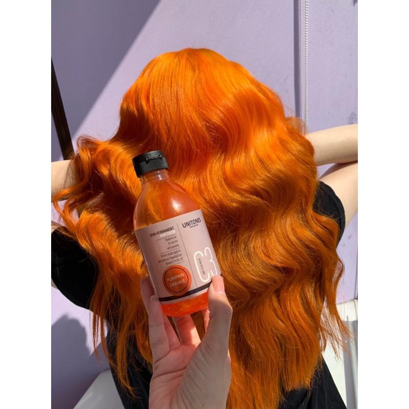 Оранжевая краска для волос Unitones 280ml - Pumpkin Orange - Большая туба